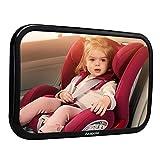 【Neue Version】Akapola Rücksitzspiegel für Babys, Spiegel Auto Baby, Auto Rückspiegel für Kindersitz und Babyschale, 360° schwenkbar, Autospiegel in optimaler Größe