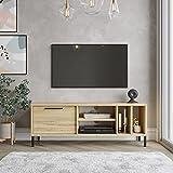 Yurupa TV Lowboard, Fernsehtisch, Unterschrank, Fernsehschrank, Büro, Arbeitzimmer, Wohnzimmer Holzoptik,RT2-KE