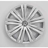 Volkswagen 7N0601147AVZN Radkappe (1 Stück) Radzierkappe 16 Zoll Radzierblende Radblende, Silb
