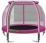 TAIDENG Indoor-Fitness-Trampolin, tragbar, für Kinder, Outdoor-Unterhaltung, Trampolin, kann 50 kg standhalten, 100 marineballs (Farbe: 122 cm, Rosa, 100 Marineballs)