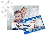fotopuzzle.de Foto-Puzzle selbst gestalten - Puzzle 48 bis 2000 Teile mit eigenem Bild erstellen - Puzzle individuell Bedrucken Lassen - inkl. Geschenk-Schachtel mit Text - 200 Teile Blaue Schachtel