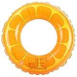 Holmeey Aufblasbarer Poolring,Sommer-Schwimmring Orange Fruit-Schwimmring Langlebiger Sommer-Pool-Strandspielzeug für Erwachsene