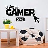 Gamer Wandaufkleber Wählen Sie Click Controller Filmspiel Tastatur Vinyl Wandtattoo Kinder Jungen Schlafzimmer Spielzimmer Wohnk