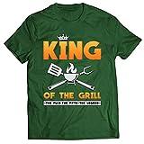 lepni.me Männer T-Shirt König des Grills Meister BBQ Chef Der Mann Der Mythos Die Legende (M Dunkelgrün Mehrfarben)