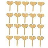 Yililay Pflanzenetiketten Sign Seed Etiketten, 20PCS Holzgartenpflanze Marker Stichworte für Kräuter Samen Blumen Gemüse (oval)