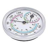 Eulbevoli Innenthermometer, Thermometer für den Heimgebrauch bei niedriger Temperatur und Luftfeuchtigkeit mit Außenring aus Aluminiumlegierung für Kühlschränke