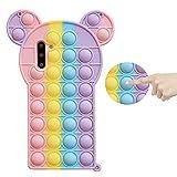 XYOUNG Schutzhülle für Huawei P40 Pro (6.58 Zoll), Push Bubble Sensory Fidget Toy Case Release Stress Protection Cover mit Ständer Bubble Ears
