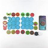 ShiftX4 Epoxidharz-Form zum Aufhängen von Ornamenten, Gussform für Telefonsteckdose, Silikonform zum Selbermachen, Handy-Griff für DIY-Tablett, Heimdekoration