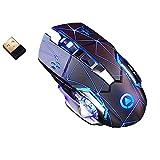 Ymxcwer85851 A4 Wireless Gaming Mouse Wiederaufladbare Silent LED Hintergrundbeleuchtung USB Optische Maus