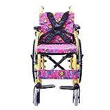 GFF Leicht zusammenklappbarer Kinderrollstuhl Fahren Medizinisch, Kinderrollstuhl Auto Klein Tragbar Behindertentrolley Kinderhandrollstuhl, Rosa, u