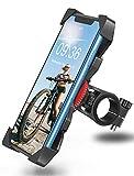 Bovon Handyhalterung Fahrrad Anti-Shake 360° Rotation Fahrradhalterung Handy, Motorrad Fahrrad Lenker Komptibel mit iPhone 12 Pro, 12 Mini, 11 Pro Max, Samsung S10 Plus und alle 4.0-6.5 Zoll Geräte