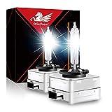 WinPower D1S Bi Xenon Brenner 35W HID Scheinwerfer Biren Entladungslampe Set 12V 4300K Gelb Mehr Licht Extreme Vision Headlight Lampe, 2 Stücke