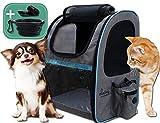 dainz® Einzigartiger Hunde-Rucksack für kleine Hunde bis ca. 7kg inkl. Anschnallgurt & Zubehör   Katzen-Rucksack mit kratzfesten PVC Netzen   Rucksack für Hunde, Katzen, Kleintiere, etc.