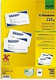 SIGEL Visitenkarte 3C, Inkjet/Laser/Kopierer, Edelkarton, 225 g/m², 85 x 55 mm, hochweiß, glatter Rand (100 Stück), Sie erhalten 1 Packung á 100 Stück