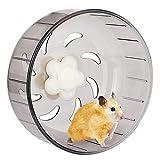 iFCOW Laufrad für Hamster, 13,2 cm Acryl-Kunststoff sehr leise Laufrad Spielzeug für kleine Haustiere Hamster