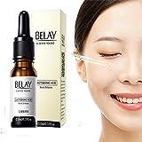 10 ml Hyaluron Serum mit Vitamin C/E Hochkonzentriert Gesichtsserum mit Organischen Anti Falten/Age Inhaltsstoffen Soothing & Moisturizing,Redness Relief and Soothes Acne Scars für Gesicht/Augenpartie