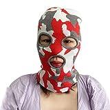 3-Loch-Strick-Sturmhaube, Camouflage-Strick-Skimaske, Herren, Gesichtsbedeckung für Damen - - Einheitsgröße