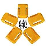 Batteriehalter für Dewalt 20 V/60 V Batteriehalterungen/Aufhänger/Dock-Halterung, passend für DCB200 DCB203 DCB205 Batterien, 5 Stück