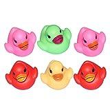 Schwimmendes Bade-Spielzeug für Babys und Kinder, verschiedene Farben, 6 Stück