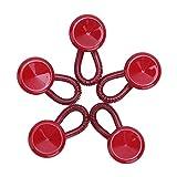 MSemis 5 Stück Kragenverlängerung Wunderknöpfe Hosenerweiterung Hosenbunderweiterung knopf Schwangerschaft für Hemd Jeans Hosen Kleid Unisex Rot One Size