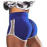 FDSVCSXV Yoga Hosen für Frauen, Frauen Shorts Compression Laufen Shorts Trainingsübung Fitness Shorts Pole Dance Shorts Sexy Hot Hose,Blau,S