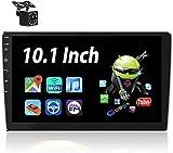 Android Autoradio - Bluetooth Autoradio Doppel Din mit 10.1'' HD Touchscreen MP5 Player Unterstützt Freisprecheinrichtung,WiFi,Mirror Link,FM Radio,Dual USB,SWC,Autoradio mit Navi und Rückfahrkamera