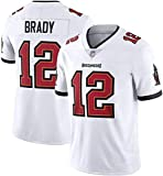FFZH Modetrend Tom Brady Buccaneers # 12 American Football Trikot Bestickte Edition Fan Edition T-Shirt 2021 Salute Limited Edition Trikot-S_B3