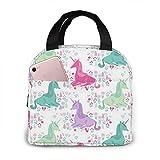 N\A Sweet Unicorn Pink Pastell Mädchen Lunch Bag Kühltasche Frauen Einkaufstasche Isolierte Lunchbox Wasserfeste Thermo Lunch Bag Soft Liner Lunch Bags für Frauen/Picknick/Bootfahren/Strand/Angeln