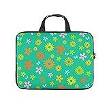 Laptoptasche mit Blumenmotiv, weich, stoßfest, Computer-Schutztasche mit tragbarem Griff, für Damen und Herren, Weiß, 25,4 cm