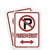 2tlg. Parken Verboten Schilder Aluminium Notausgänge Parkenverbot Schilder Parkverbot Schild Hinweisschild Hartschaumplatte, 180 * 250mm