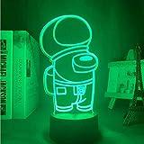 HHKX100822 Among Us 3D Illusion Lampe Led Steckdosenlampe, Spiel Beleuchtung Nachtlicht, Kinder Geburtstag Weihnachten Geschenk Nachtlicht Led Steckdose B