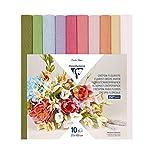 Clairefontaine 995000C – ein Paket mit 10 Rollen für Floristen, 25 x 100 cm, verschiedene Pastellfarb