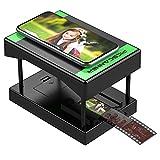 Rybozen-Diascanner, scannen und speichern Sie Ihre 24x36-mm-Negative und Dias mit Ihrer Smartphone-Kamera. Der faltbare und tragbare Scanner ist mit LED-beleuchteter Beleuchtung ausgestattet.