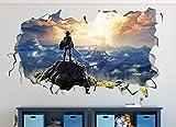 HQSM Wandtattoo Legende von Zelda View Landscape Wii Benutzerdefinierte Wandtattoos 3D-Wandaufkleber Kunst