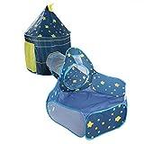 Babyzelt, langlebiges Krabbeltunnel-Spielzelt, hochwertiges Kleinkind-Kleinkind-Mädchen für Kinder(Blue three-piece suit)