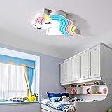 WZJ-Deckenleuchte Artoon Unicorn LED dekoratives Umgebungslicht Wohnzimmer Schlafzimmer Deckenleuchte (Color : Weiß)