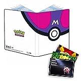 Lively Moments Pokemon Ultra-Pro Album A5 mit 40 Fächer in Meisterball Optik und Exklusive GRATIS Grußkarte