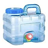 succeedw Wasserbehälter Mit Wasserhahn, 7,5l Tragbarer Campingwasserbehälter, Camping Wandern Wasseraufbewahrung, Auto Wasseraufbewahrung Eimer Für Outdoor Camping-Reisen