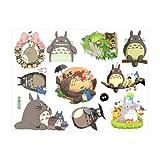 LCFF Wandtattoo Totoro 3D wandaufkleber Wand wandbilder Decals Mein Neigung Totoro dekorative Vinyl tapete abnehmbare Kinder Zimmer Wand dekor (Color : A, Size : 60x40cm)