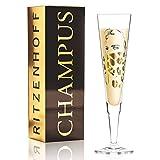 Ritzenhoff Champus Champagnerglas von Peter Pichler (Noble Savage), aus Kristallglas, 205 ml, mit edlen Goldanteilen