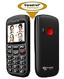 simvalley MOBILE Handy mit Notruf: Komforthandy mit Bluetooth, Garantruf, Foto-Kontakten und Ladestation (Nottelefon)