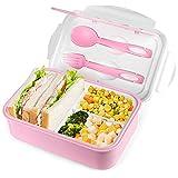 FENRIR Brotdose,Lunch Box Kinder,Bento Box Lunchbox mit 3 Fächern,Lebensmittelbehälter BPA-frei,1400ml Vesperdose