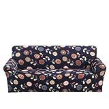 SUUZQK Gewaschene Hochelastische rutschfeste Sofabezug, Einfaches All-Inclusive-Sofakissen Aus Polyester, Geeignet Für Schlafzimmer Und Wohnzimmer 2 Sitzer(145-185cm)