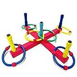 Wurfspiel Ringwurfspiel, Lustige Kinder Outdoor-Sport Spielzeug Hoop Ring Werfen Kunststoff Ring Werfen Quoits Garten Spiel Pool Spielzeug Fun Set