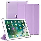 Fintie Hülle für iPad 9.7 Zoll 2018 2017 / iPad Air 2 (2014) / iPad Air (2013) - Ultradünn Schutzhülle mit transparenter Rückseite Abdeckung Cover mit Auto Schlaf/Wach Funktion, Lavendel