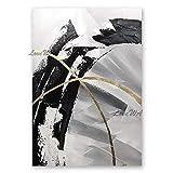ZNYB Bilder Auf Leinwand Modern 100% handgemalte ungerahmte billige Schwarze und weiße abstrakte Leinwand Wandkunst dekorative Ölgemälde Kunstwerk für Wohnzimmer Dekor