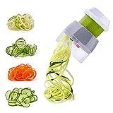 Nurch Spiralschneider Hand für Gemüsespaghetti 4 in1 Gemüse Spiralschneider, Gemüsehobel für Zucchini, Karotte, Gurke, Kürbis