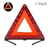 Reemky Warndreieck Faltbares Sicherheitsdreieck Dreifachwarnsystem Warndreieck Reflektor Straßenrand-Warnschild Dreieck-Symbol für Notfall mit Aufbewahrungstasche (1PCS)