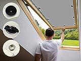 Dachfenster Thermo Sonnenschutz38x74cm Mehrfach Farbe, Sonnenschutz Rollo Fenster Innen Sonnenschutzfolie Aussen für Velux Oberlichter -Grau