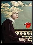 HRUIO leinwand Poster Daria Petrilli Abstrakt weiblich Moderne Druck malereikreatives Geschenk wanddekobild wandbilder wohnzimmer-40 * 50cm